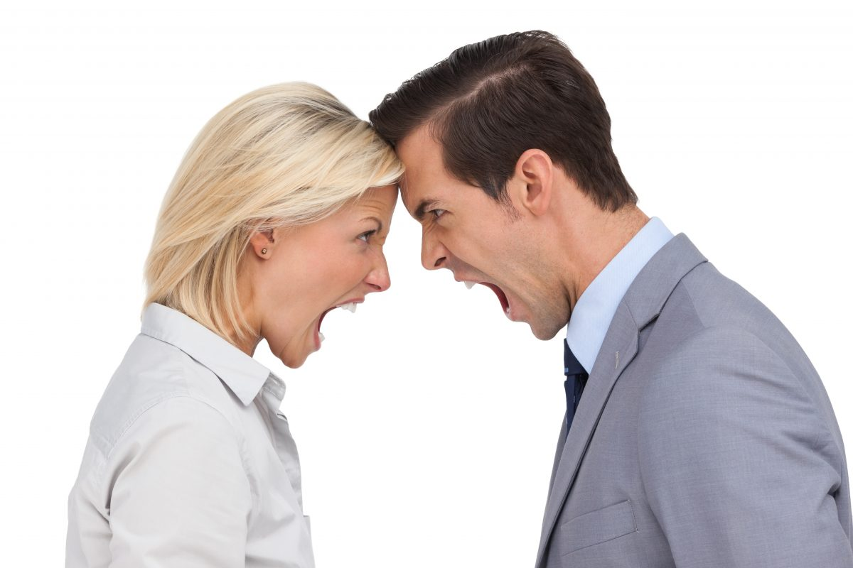 Mann u Frau streiten, Konflikt